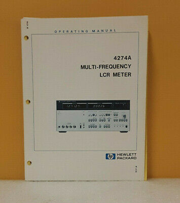 HP 04274-90004 4274A Multi-Frequency LCR Meter Operating Manual