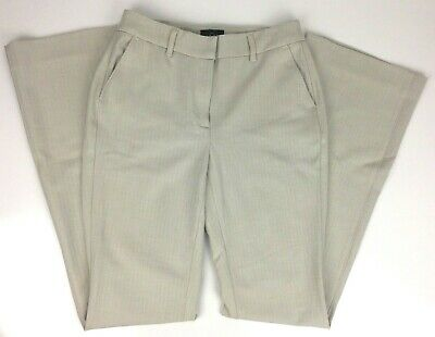 White House Black Market Womens Pants Size 00 Cream Herringbone THE BOOT Stretch