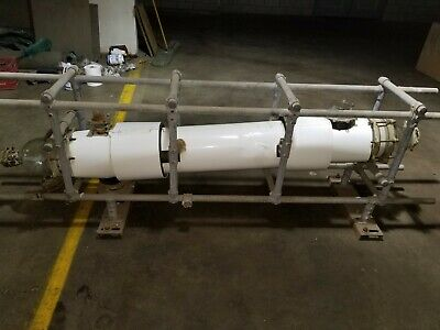 Shell and Tube QVF process glass condenser - 6 foot long, distillation, reactor