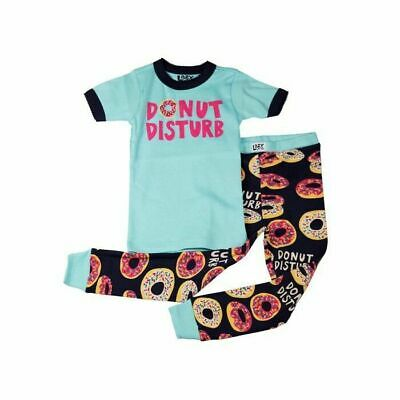 Girls Age 6 Short Sleeve Donut Disturb PJ Set - Lazy One - Pyjamas