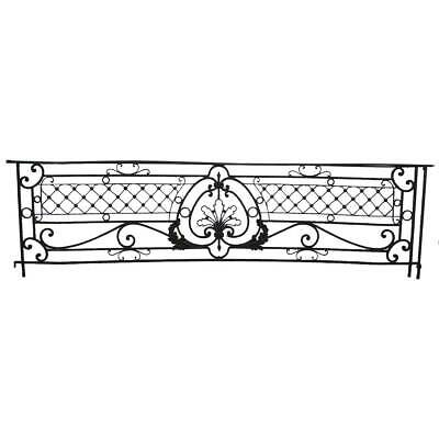 Antique French Beaux-Arts Wrought Iron Bowfront Balcony c. 1890