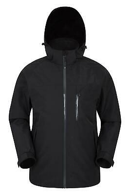 Mountain Warehouse Mens Waterproof Jacket IsoDry Technology with Taped Seams