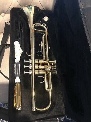 BRAND NEW TRUMPET Bb GOLD WITH CASE - SCHOOL STUDENT BEST QUALITY