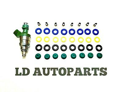 Fuel Injector Rebuild Kit O-rings Filters Pintle V8 Chevy GMC 4.8 5.3 6.0 Delphi