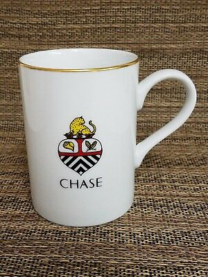 1994 Lynn Chase Designs Crest Wildlife Foundation 24K Gold Trim Rim Mug Cup RARE