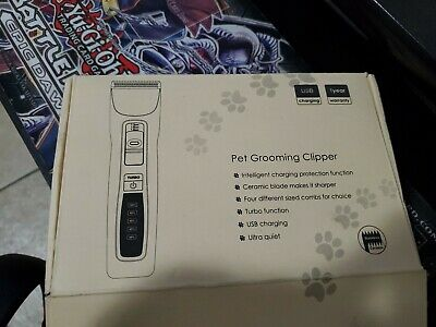 Dog Cat PET CLIPPERS Cordless Professional Dog Hair Grooming Clippers Kit