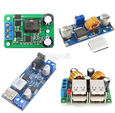 4-USB Port XL4015 DC-DC 12V/24V to 5V 5A Buck Converter Power Supply Step Down T