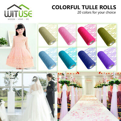 Colorful Tissue Spool Net Lace Tulle Roll Sheer For Gift Wrap Toy Tutu Dress 75