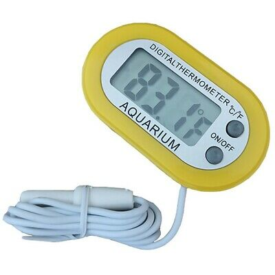Digital Fish Tank Reptile Aquarium Water Meter Sensor Thermometer Temperature