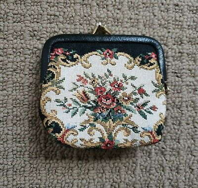 Vintage Tapestry Coin Purse kiss lock