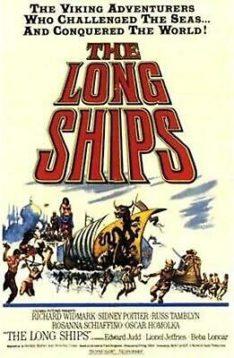 35mm MOVIE FILM TRAILER The Long Ships (1964) Very rare trailer IB Tech