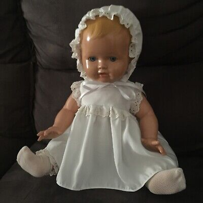 Vintage Arte Model Doll. Made in Spain. Hard plastic and non blinking eyes.
