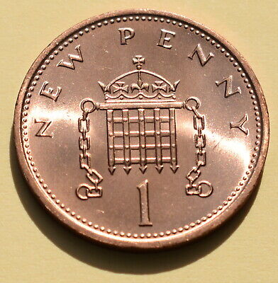 1971 One New Penny Piece 1p Coin Brilliant Uncirculated First Year Of Decimal