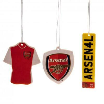 Arsenal FC 3 Pack Air Freshener For Car Room Office Accessories Xmas Gift New