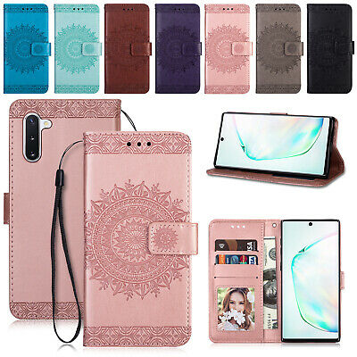 For Samsung S7 S8 S10 S9 Note 10 Plus Magnetic Leather Wallet Phone Case Cover
