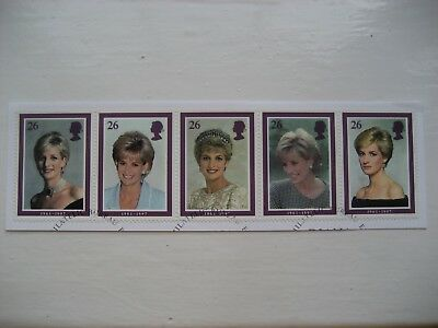 Gb 1998 Diana Commemoration Full Set Sg2021/5 Vfu Stamps As Strip Of 5