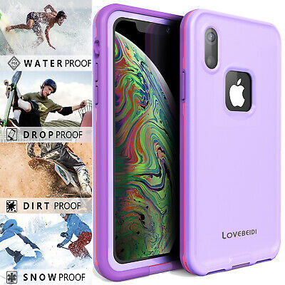 Life Waterproof For iPhone Xs Max XR Case Cover Dropproof Dirtproof Snowproof
