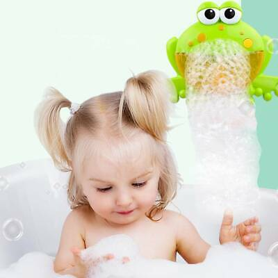 Frog Bubble Maker Kids Bath Shower Toy Cartoon Bubble Machine Music Bubble Maker