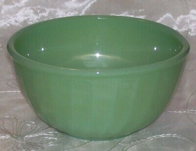 "Vintage Fire King Ovenware JADEITE SWIRL- 6"" Nesting Mixing Bowl-VGUC"