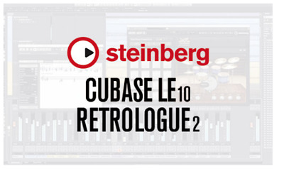 Steinberg Bundle - CUBASE LE 10 & RETROLOGUE 2 Synth- Genuine Licence-  PC MAC