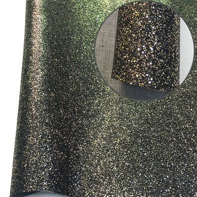 Frosted Glitter Vinyl Fabric Sparkle Faux Leather Craft Material Bows Decor A4