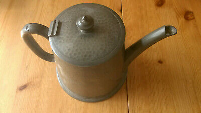 Vintage 20's pewter teapot by James Dixon & Sons Sheffield Cornish Pewter W1946