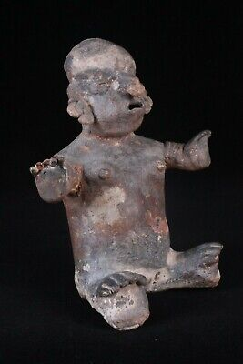 Pre-Columbian NAYARIT SEATED FEMALE FIGURE, Ex. Dr. Solem Collection
