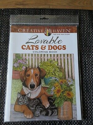 Creative Haven Lovable Cats And Dogs Colouring Book