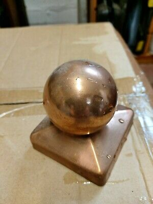 Pair Of Copper Fence Finials