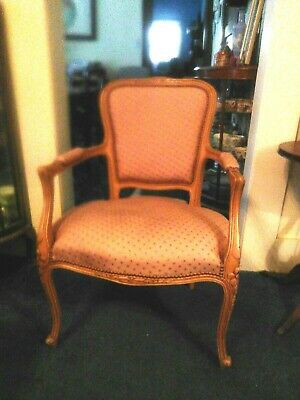 Vintage French upholstered armchair