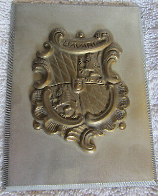 Coat of Arms for Bavaria Plaque - found WWII Rubble in Germany