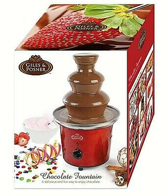 Giles And Posner Electric Chocolate Fountain Red New Ek1525