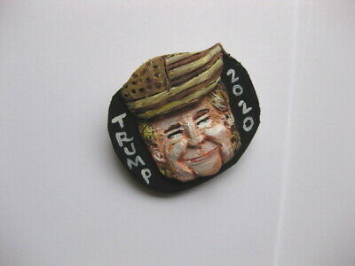 "President Donald Trump ""Flag Hair"" 2020 Presidential Campaign Novelty Pin"