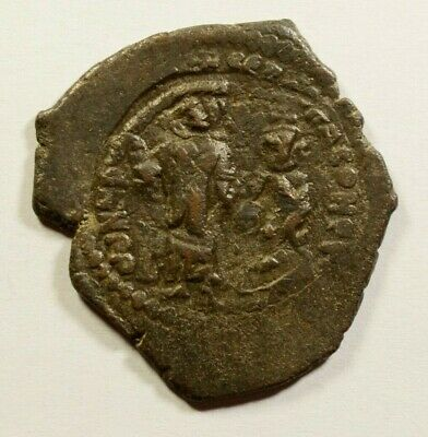 HERACLIUS & Son H. CONSTANTINE 610AD Authentic Ancient Byzantine Coin