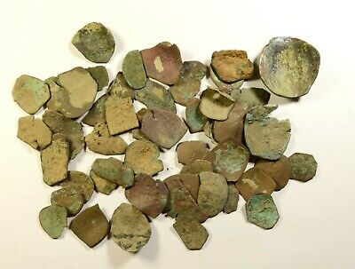 Lot Of 50 Ancient Byzantine Cup Coins/fragments - Low Quality - 07
