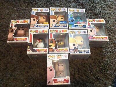 Toy story funko pop lot, exclusives, original hamm 20th anniversary