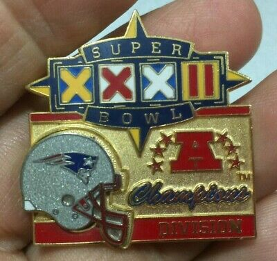 1997 Nfl Super Bowl Xxxii Playoff Division Champion Pin New England Patriots