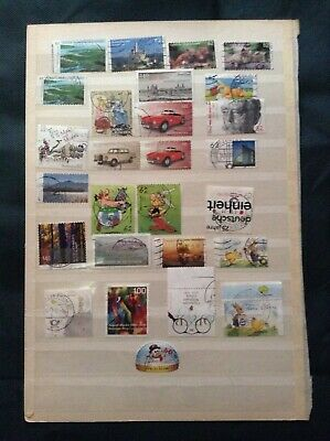 GERMANY 57 USED STAMPS OFF PAPER 2014-2016 from kiloware