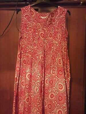 Red And Cream Patterned Maxie Dress Size 24