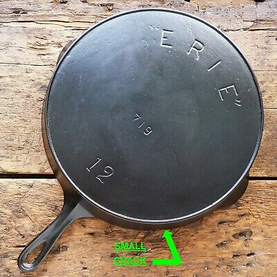 ANTIQUE GRISWOLD Cast Iron SKILLET Frying Pan # 12 ERIE 3rd Series - Ironspoon