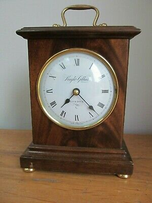 Antique Reproduction Knight & Gibbons Solid Wood Case Quartz Carriage Clock