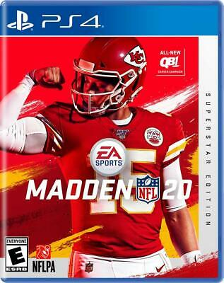 Madden NFL 20 - Superstar Edition (Sony PlayStation 4, 2019) PS4, NEW and SEALED