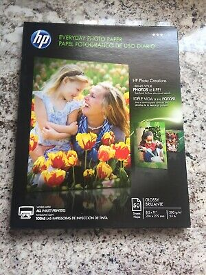 HP Everyday Glossy Photo Inkjet Paper - Glossy - 8.5x11- 50 sheets - Q8723A