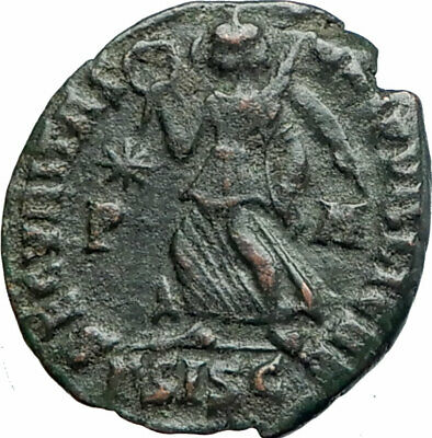VALENTINIAN I 364AD Authentic Ancient Roman Coin ANGEL VICTORY NIKE  i80234