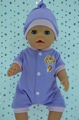 """Play n Wear Dolls Clothes To Fit 17"""" Baby Born LILAC/PINK ROMPER~HAT"""