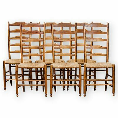 Set of 6 Philip Clissett Arts & Crafts Cotswold School Ash Ladderback Chairs