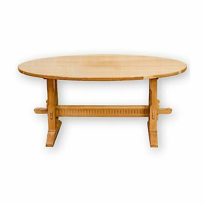 Rupert Griffiths Arts & Crafts English Oak Oval Dining Table