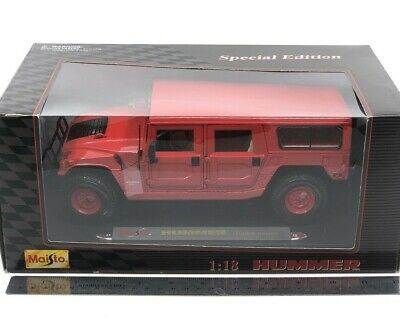 Hummer H1 - Maisto - Special Edition -  Red - 1/18