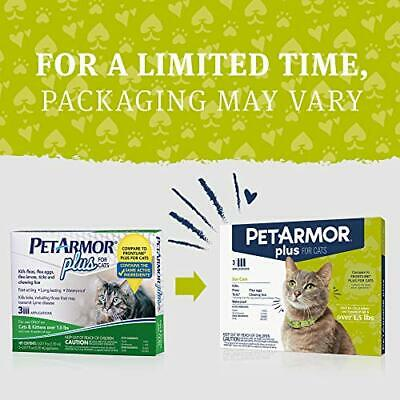 PETARMOR Plus Flea Tick Prevention for Cats with Fipronil Over 1.5 Pounds 3 Appl