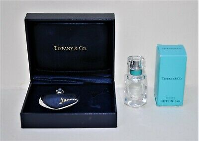 Genuine TIFFANY & CO. Sterling Silver Heart Perfume Bottle, +Gift Eau de Parfum!